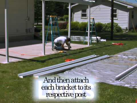 How To Install The Teton Patio Cover   Part 2   YouTube