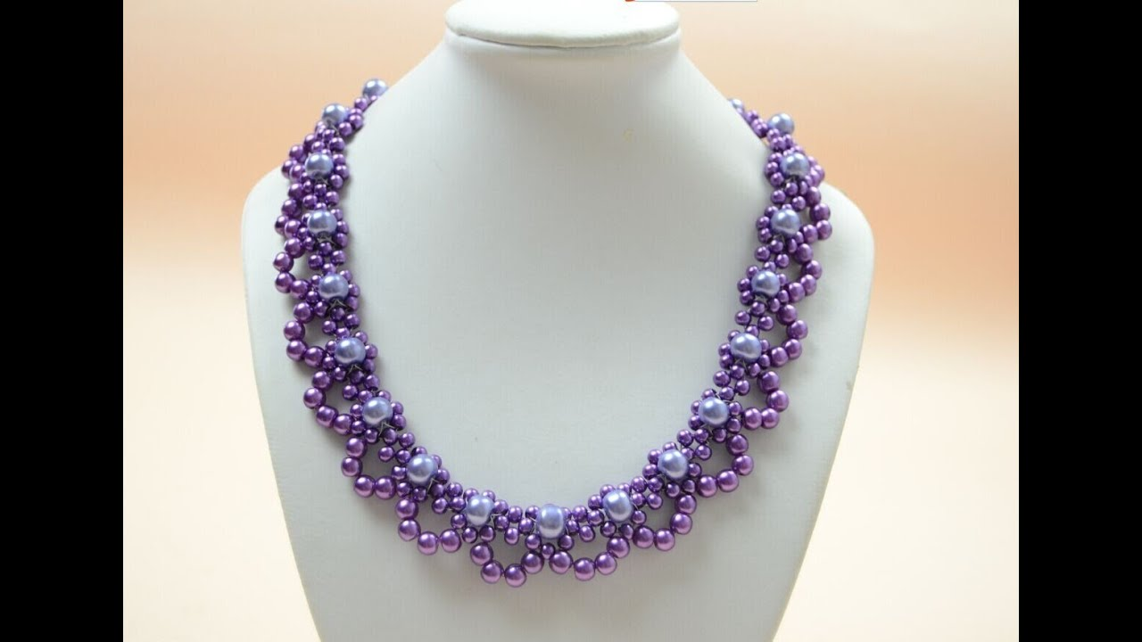 PandaHall Jewelry Making Tutorial Video--How to Bead a Purple ...