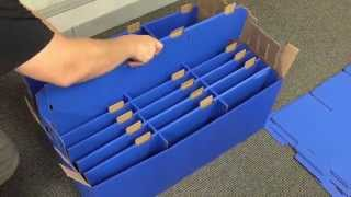 Classroom Keepers 30 Slot Mailbox, Blue Instrucitons