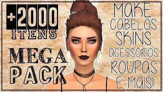 MEGA PACK + 2000 ITENS FEMININOS || Cabelos, Maquiagens, Skins, Roupas e mais!