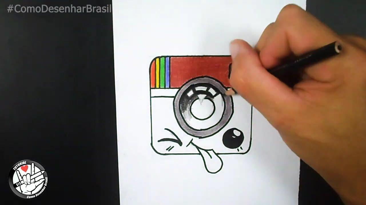 Comment dessiner le logo Kawaii Instagram - YouTube