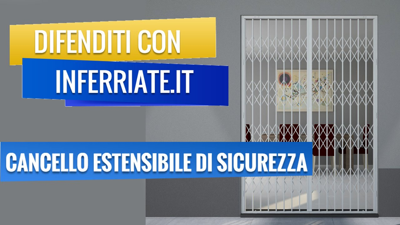 Cancello estensibile di sicurezza by youtube for Leroy merlin cancelli