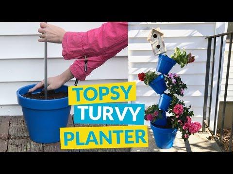 Topsy Turvy Planter   YouTube