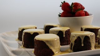 Chocolate Fruit Mince Puddings Recipe w/ Custard & Strawberries - Woolworths