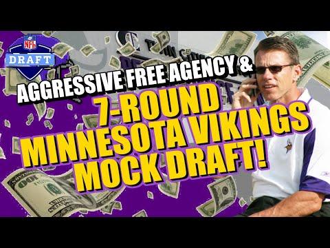 AGGRESSIVE Vikings Free Agency & Mock Draft!