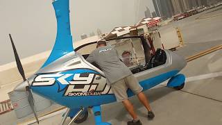 Gyrocoptering in Dubai over Burj Al Arab,Atlantis & Palm Jumeirah Islands