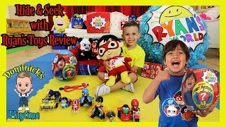 Gambar cover HIDE and SEEK with RYAN'S TOYS REVIEW | DOMINICK'S PLAYTIME