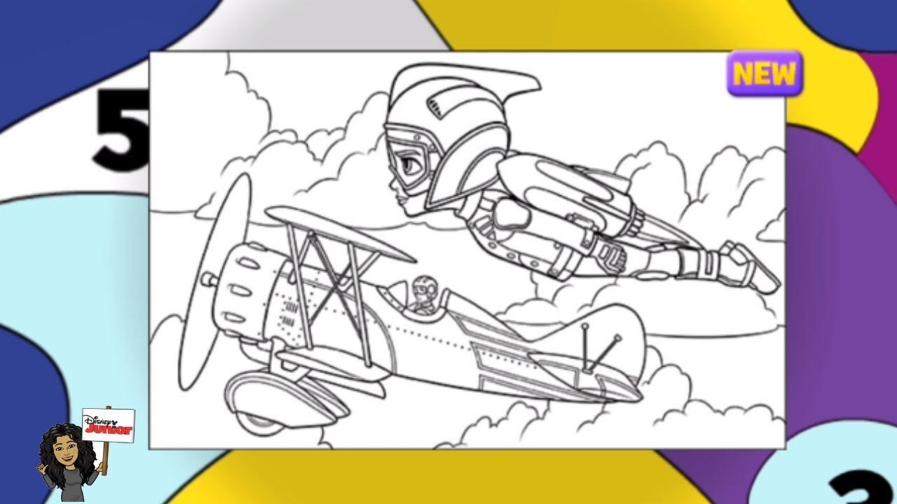 New Disney Junior The Rocketeer | Disney Now Color Splash ...