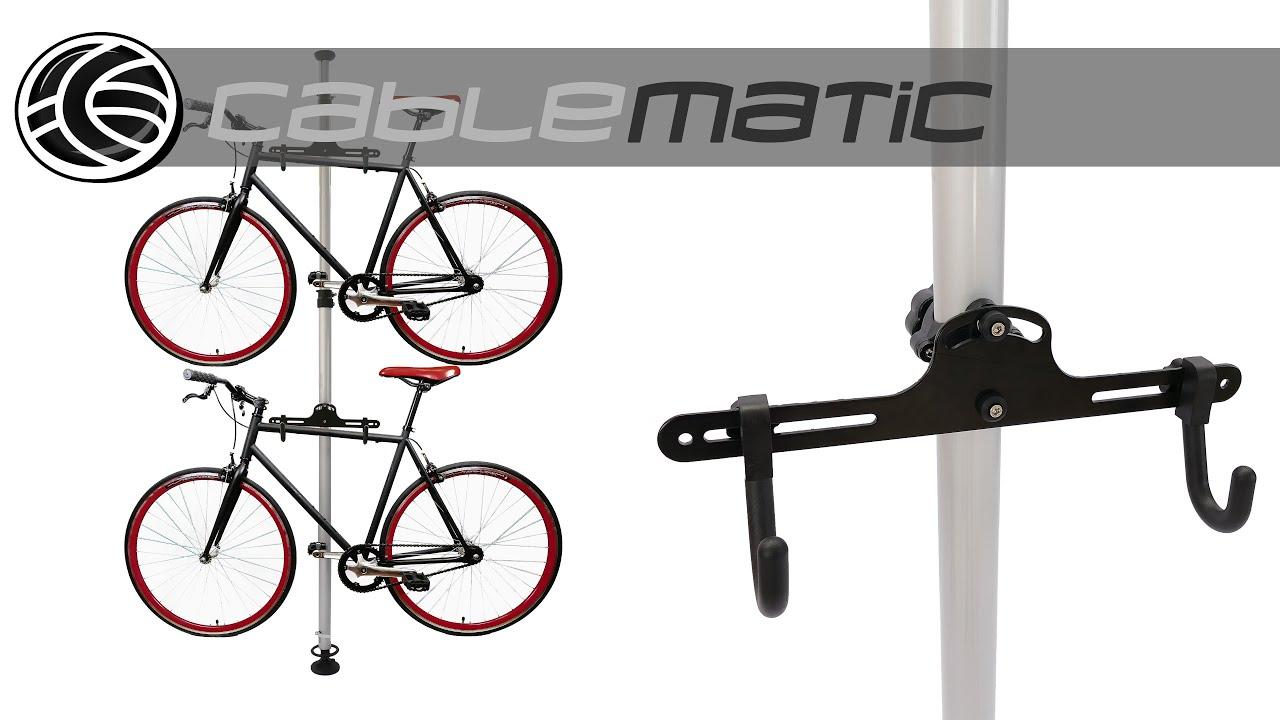 Caballete para aparcar dos bicicletas colgadas distribuido for Soporte para bicicletas suelo