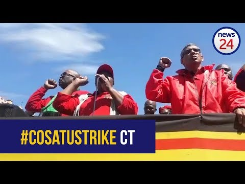 WATCH: #CosatuStrike memorandum handovers in Cape Town