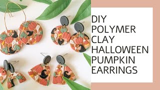 Polymer Clay Halloween Earrings | How To Polymer Clay Pumpkin Earrings Tutorial