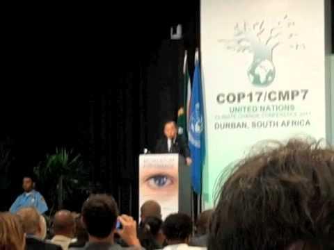 UN Secretary-General Ban Ki-moon Speaks to COP17 in Durban, South Africa