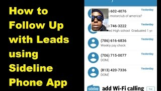 How to Follow Up with Leads using Sideline Phone App