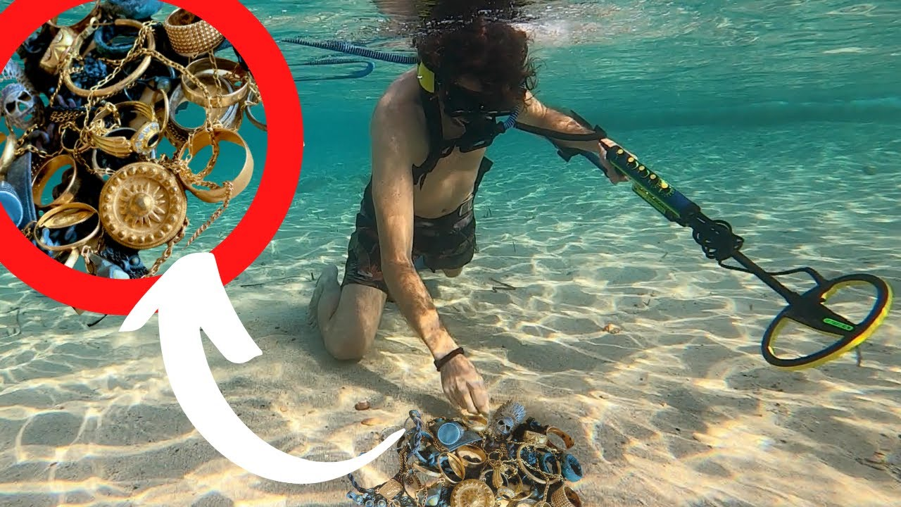 Metal Detecting Underwater for Gold while Scuba Diving (Found Rings & Diamonds!)