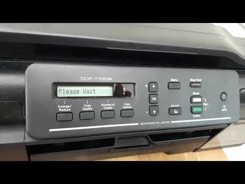 Hướng dẫn cách Clean mực máy in Brother T700W, Brother T300