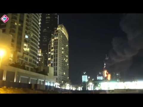 Omroep West-verslaggever filmt brand in wolkenkrabber Dubai