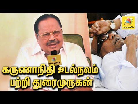 Durai Murugan interview on Karunanidhi