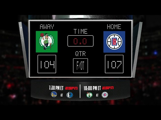 Celtics @ Clippers LIVE Scoreboard - Join the conversation and catch all the action on ESPN!