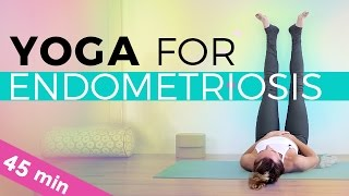 Yoga For Pelvic Pain, Endometriosis & Fibroids (45-min) Full Class