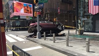 Car mows down pedestrians in New York City Times Square, one killed, at least 22 injured   TomoNews