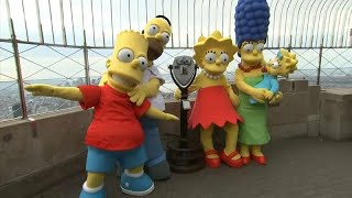 The Simpsons celebrate 30 years at the top of the Empire State Building