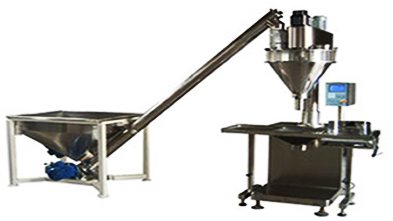 Semi Auto Powder Mixer Filling Packaging Machine With