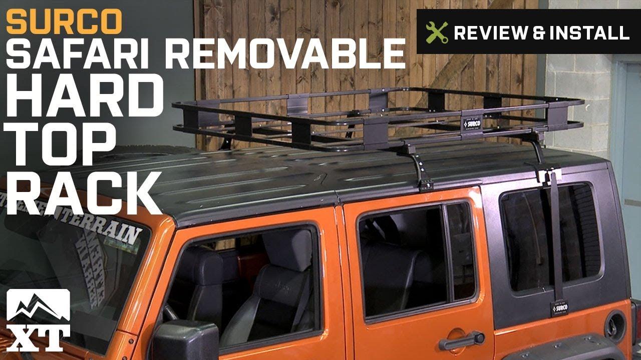 Jeep Wrangler Surco Safari Removable Hard Top Rack W