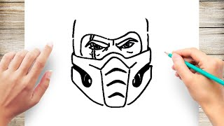 how to Draw Sub Zero Face