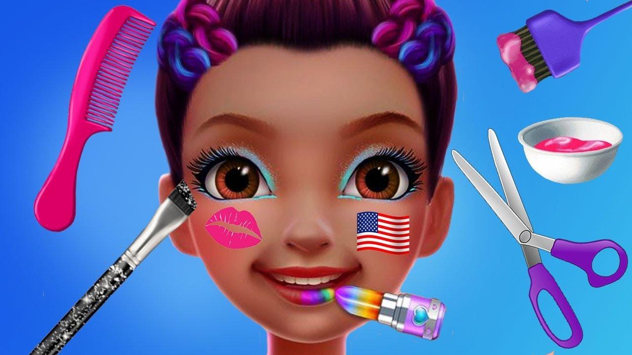 Girls Beauty Makeover Salon Kit Grafix 20 Piece Hair /& Nails Spa