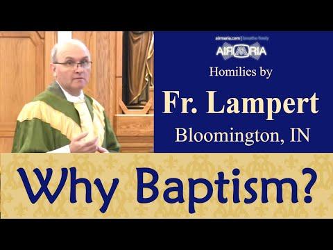 Fr. Vincent Lampert - Why is Baptism Important? - Jan 19 - Homily