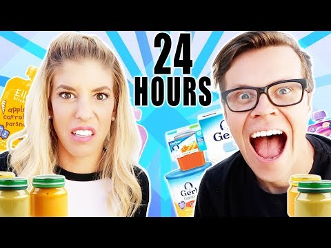 We Only Ate Baby Food For 24 Hours!