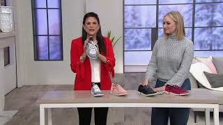 Clarks Leather/Mesh Casual Lace-Up Sneakers - Tri Amelia on QVC