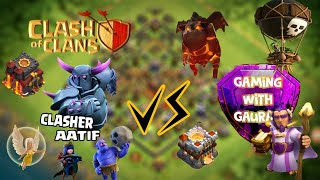 GAMING WITH GAURAV V/S. CLASHER AATIF-Clash Of Clans! Epic Challenge - Townhall 11 V/s Towmhall 10