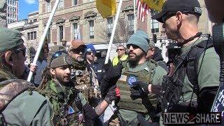 Militia, Pro-Gun Activists Confront