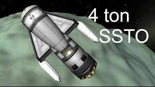 To Minmus and back in a 4.5 ton SSTO - KSP