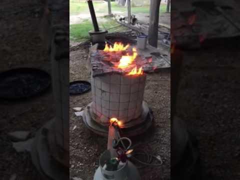 Firing my Raku kiln