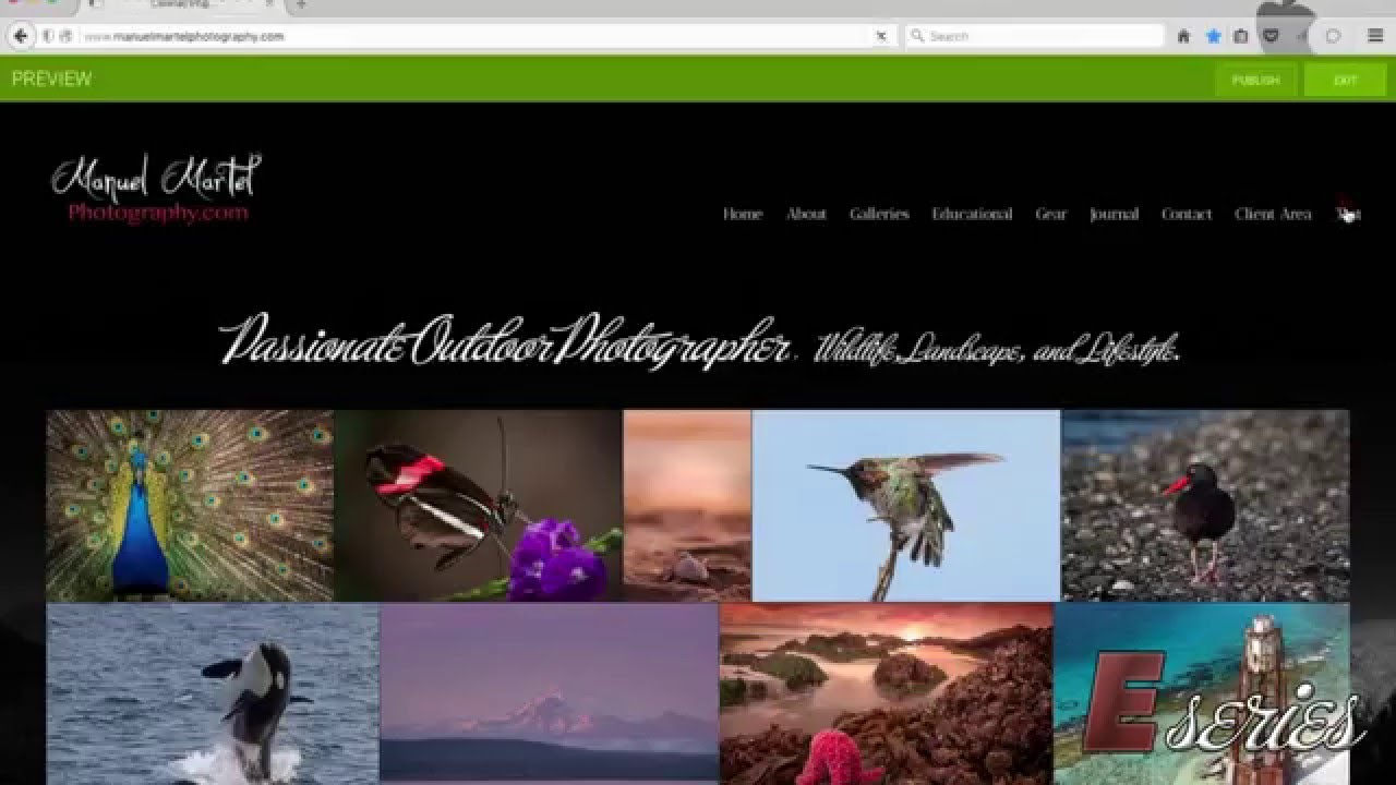 How to create and insert a page into a menu in Smugmug