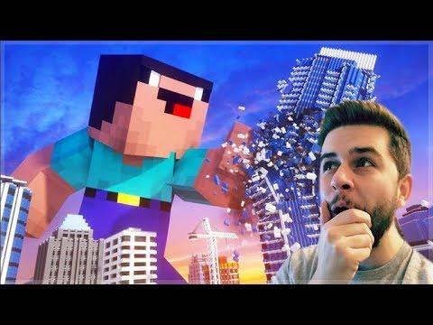 REACTING TO GIANT DERP MINECRAFT MOVIE! Minecraft Animations!