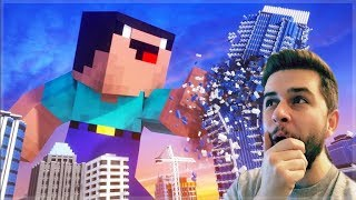 REACTING TO GIANT DERP MINECRAFT MOVIE! Minecraft Animations!