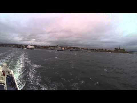 Ferry & Kronborg. Helsingør, Danmark.