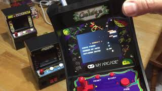 Galaga(My Arcade)  Unboxing Feb 16, 2019, Is Sound Fixed?