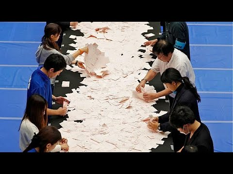 Japan: exit polls suggest a landslide general election victory for Shinzo Abe's coalition