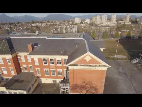 Aerial footage of Sir Guy Carleton Elementary School with some history