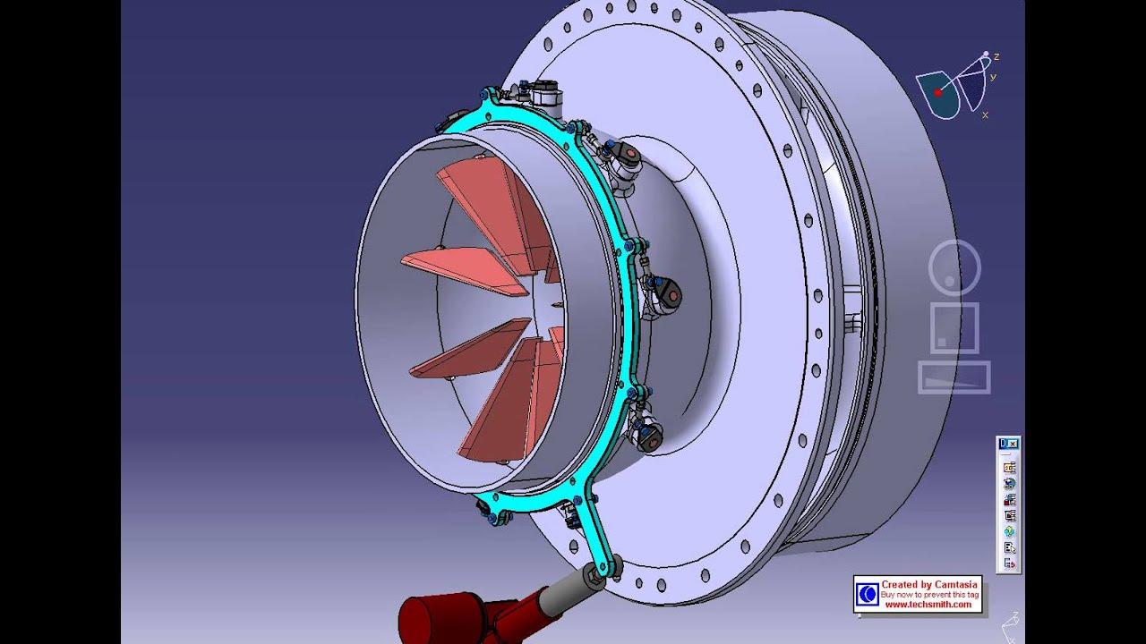 Hanwha Power Systems Compressor Igv Assy Movie Youtube