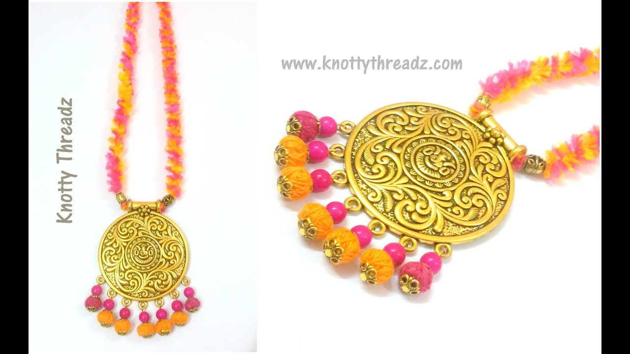 Handmade Jewelry | Easy & Quick DIY Necklace Idea|Antique Festive ...