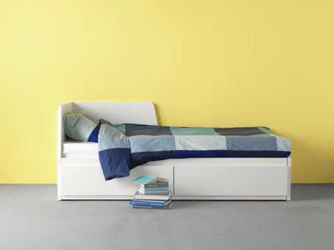 Zetelbed 2 Personen Ikea.Ikea Flekke Daybed With 2 Drawers 2 Mattresses