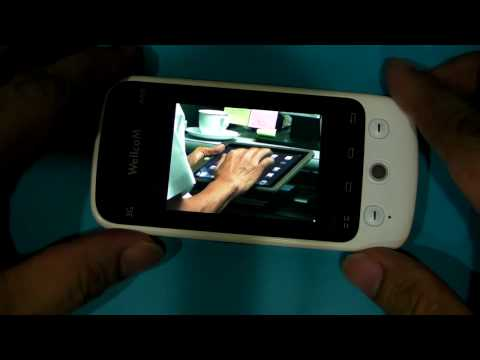Android 2.1 Eclair on WellcoM A88 Youtube App