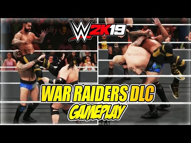 WWE 2K19 TITANS PACK DLC - WAR RAIDERS BEST MOVES (GAMEPLAY)