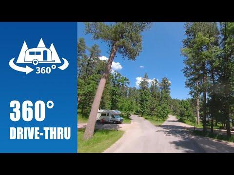 Horsethief Lake Campground In Black Hills National Forest - 360° Drive-thru