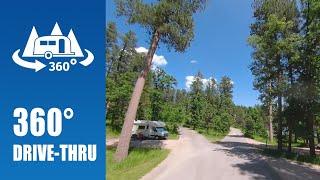Horsethief Lake Campground iฑ Black Hills National Forest - 360° Drive-thru